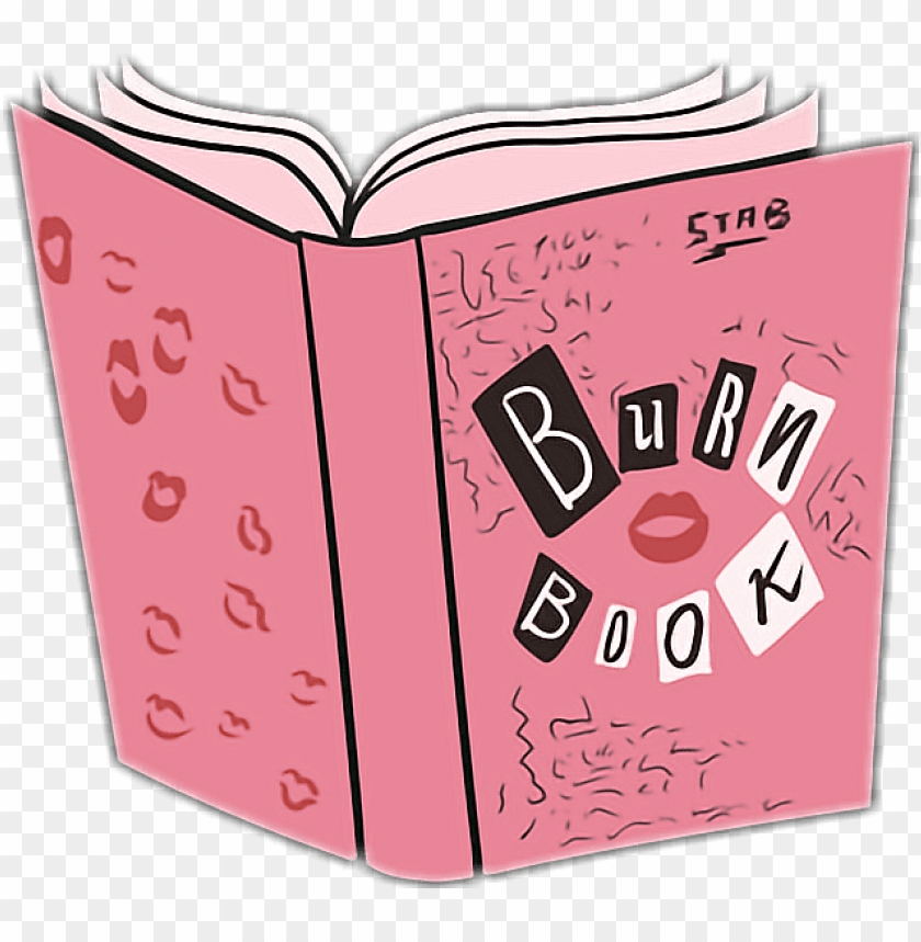 free PNG burn book pink mean meangirls girls - mean girls burn book PNG image with transparent background PNG images transparent