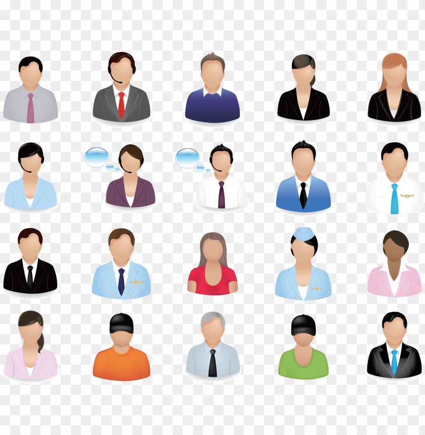 free PNG business people vector image - business people vector icon set PNG image with transparent background PNG images transparent
