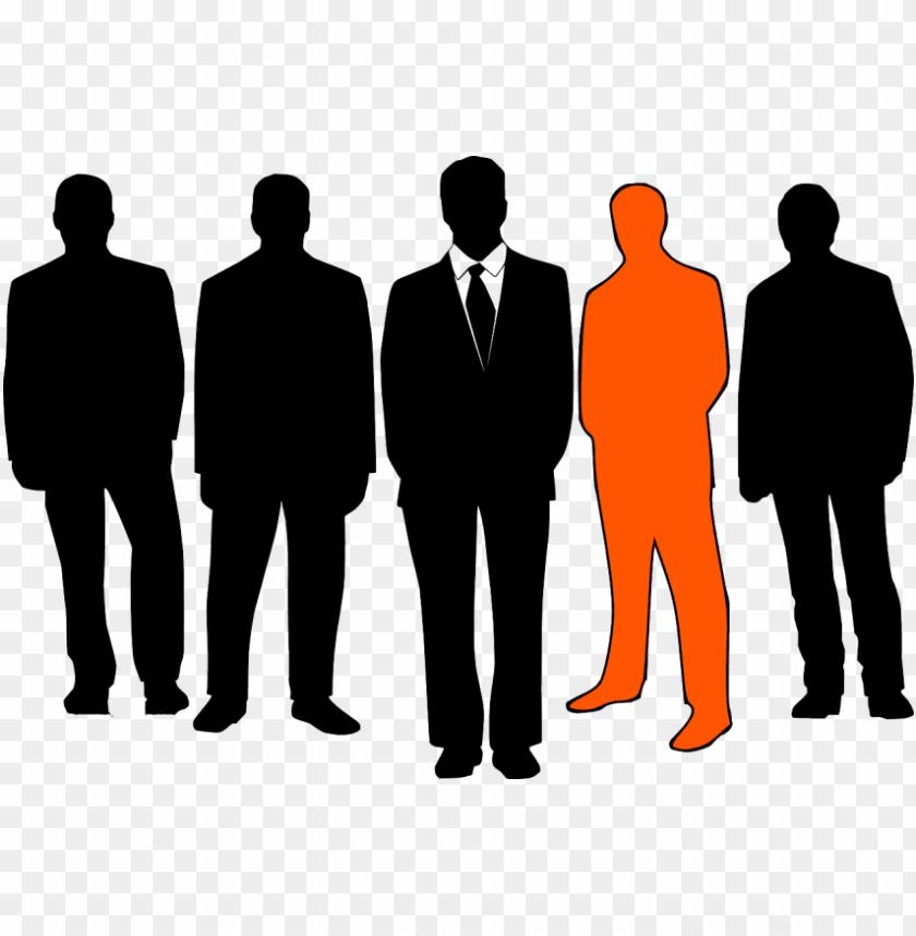 free PNG businessmen leader group business men oran - group of people PNG image with transparent background PNG images transparent