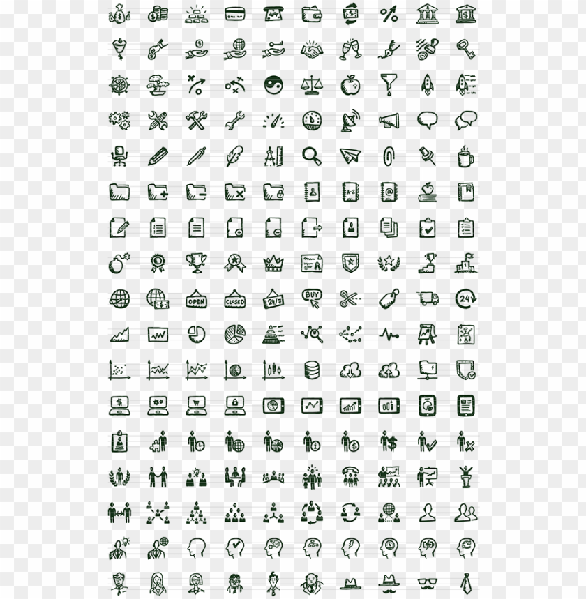 free PNG busy icons free 36 free hand-drawn icons - italian word search printable free PNG image with transparent background PNG images transparent