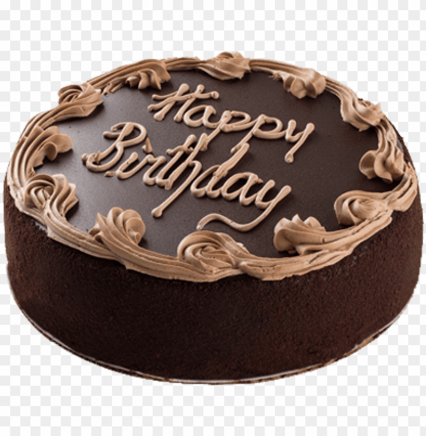 free PNG butterscotch cake - round birthday chocolate cake PNG image with transparent background PNG images transparent