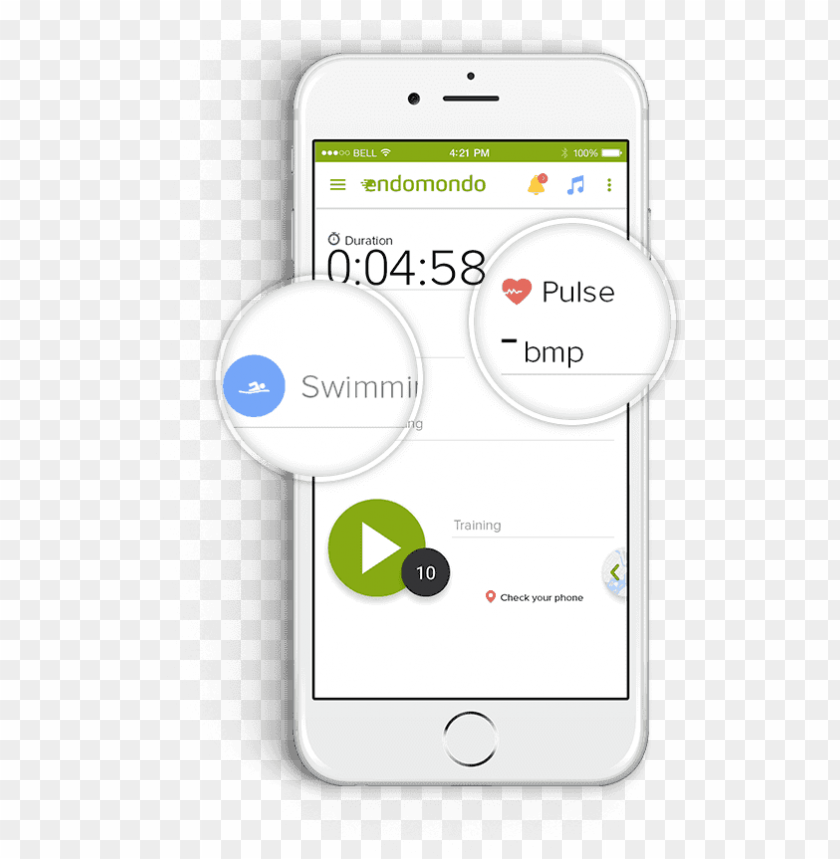 free PNG by tracking your heart rate during the training, you - iphone PNG image with transparent background PNG images transparent