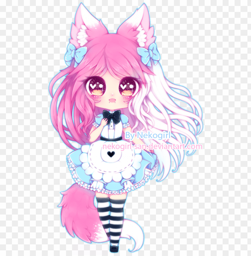 C Cute Cat Girl Drawi Png Image With Transparent Background Toppng