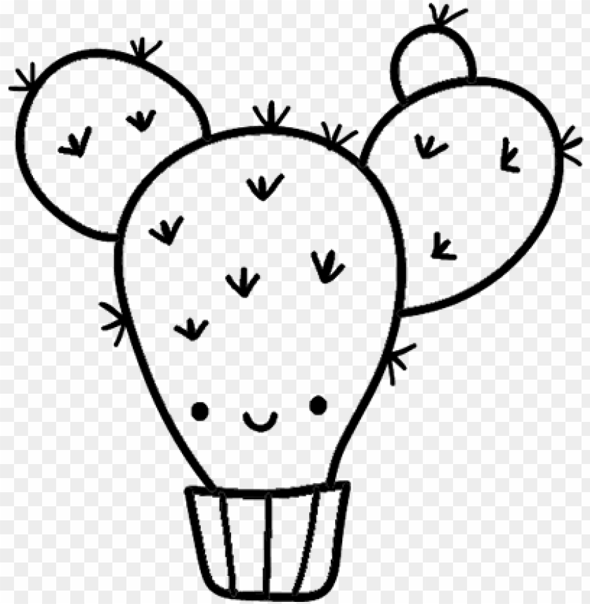 3 Mini Cactus Coloring Page - Cute Cactus Coloring Pages PNG Image ... | 859x840