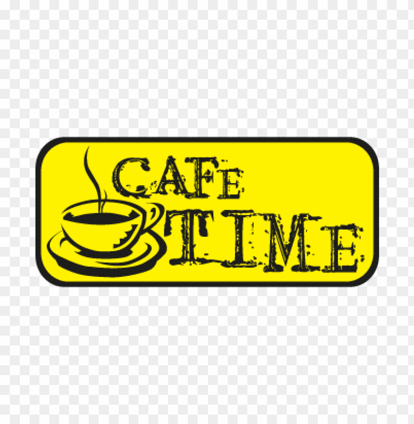 free PNG cafe time vector logo PNG images transparent