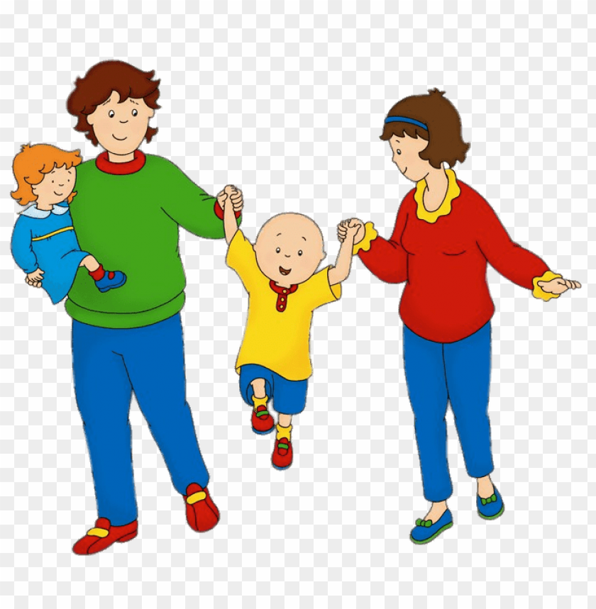 free PNG Download caillou with his parents and sister rosie clipart png photo   PNG images transparent