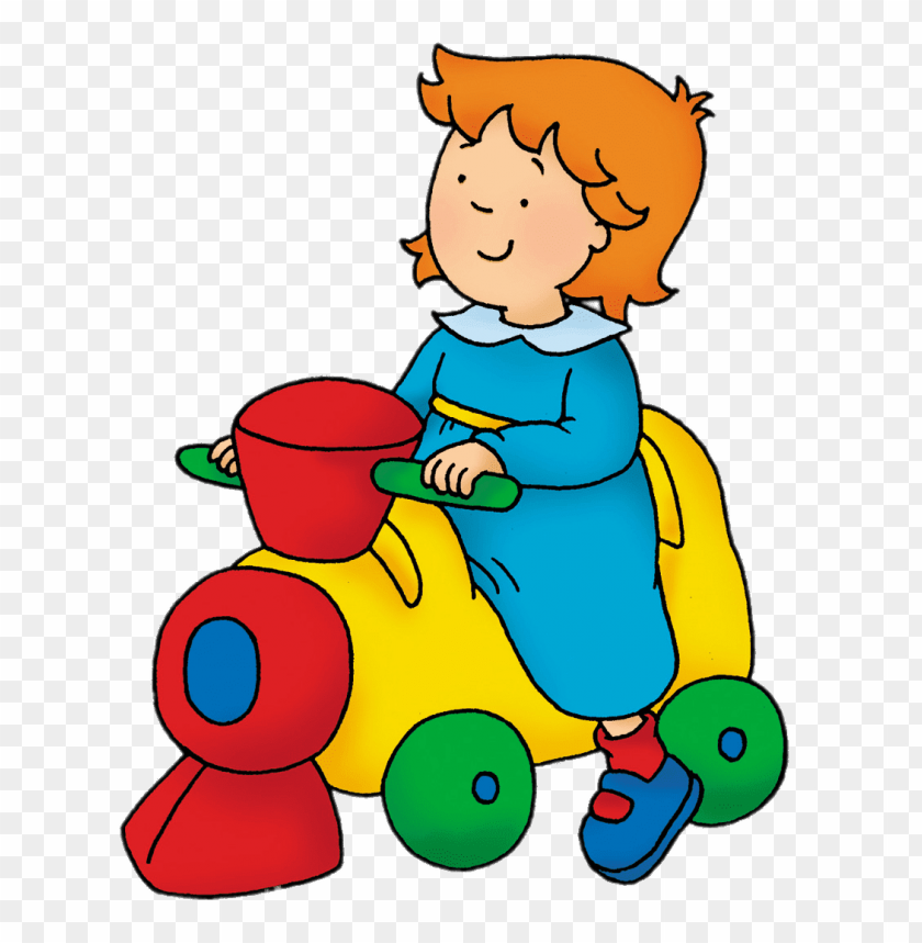 free PNG Download caillou's sister rosie on toy train clipart png photo   PNG images transparent