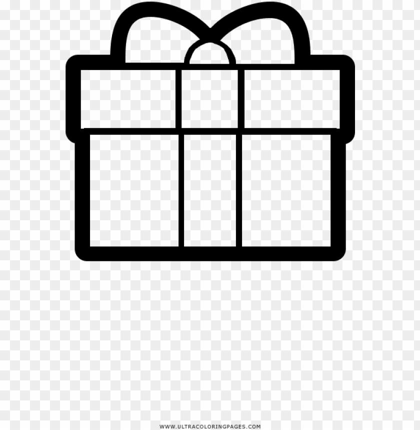free PNG caja de regalo página para colorear - gift PNG image with transparent background PNG images transparent