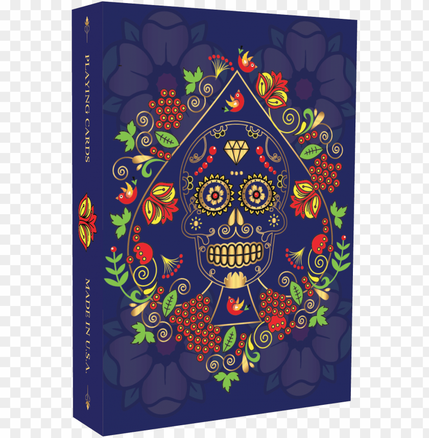"""free PNG """"calaveras de azúcar"""" playing cards printed by mpc - playing card PNG image with transparent background PNG images transparent"""
