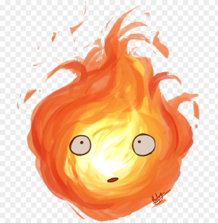 free PNG calcifer by blackdiamond13-d8na3df howl's moving castle - howls moving castle PNG image with transparent background PNG images transparent