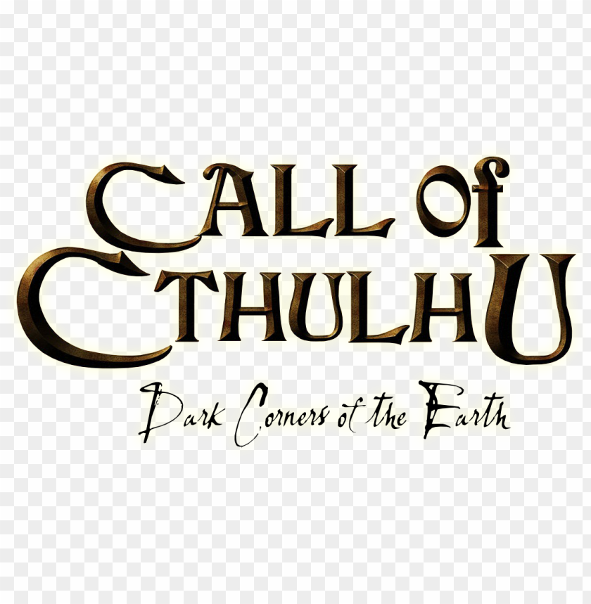 free PNG call of cthulhu - call of cthulhu the official videogame logo PNG image with transparent background PNG images transparent
