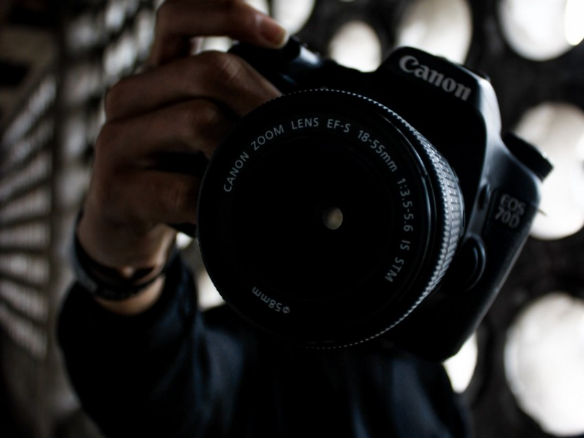 Camera Lens Hand Photographer Background Toppng