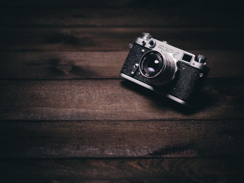 free PNG camera, lens, vintage, retro, shade, boards, wooden background PNG images transparent