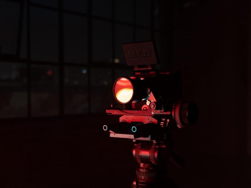 free PNG camera, tripod, lens, video equipment, dark background PNG images transparent