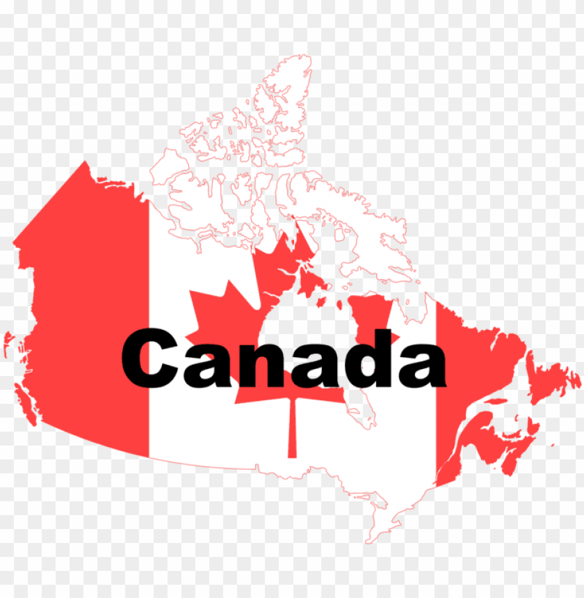 free PNG canada flag map - map canada PNG image with transparent background PNG images transparent