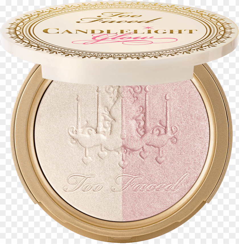 free PNG candlelight glow powder- rosy glow - too faced 'candlelight' glow powder 12g, rosy glow PNG image with transparent background PNG images transparent