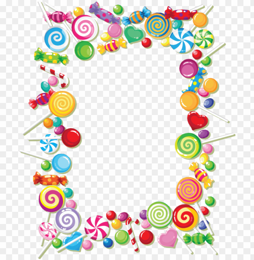 free PNG candy frame PNG image with transparent background PNG images transparent