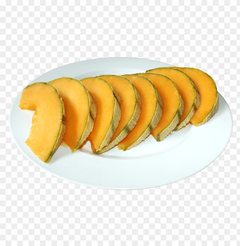 free PNG Cantaloupe Slices on the Plate png - Free PNG Images PNG images transparent