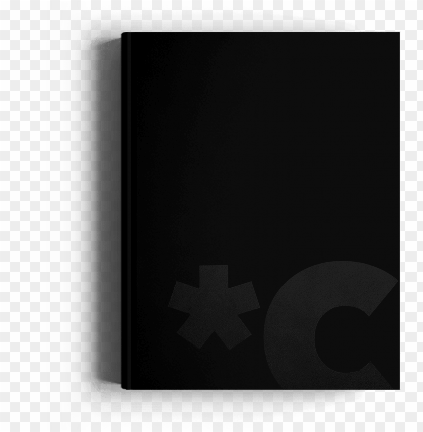 free PNG canvast year planner cover, black foil logo detail - graphics PNG image with transparent background PNG images transparent