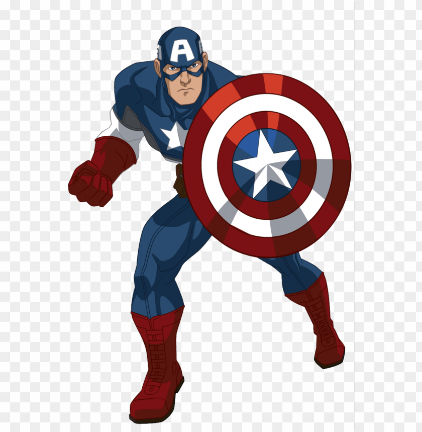 free PNG captain america cartoon - captain america avengers assemble cartoo PNG image with transparent background PNG images transparent