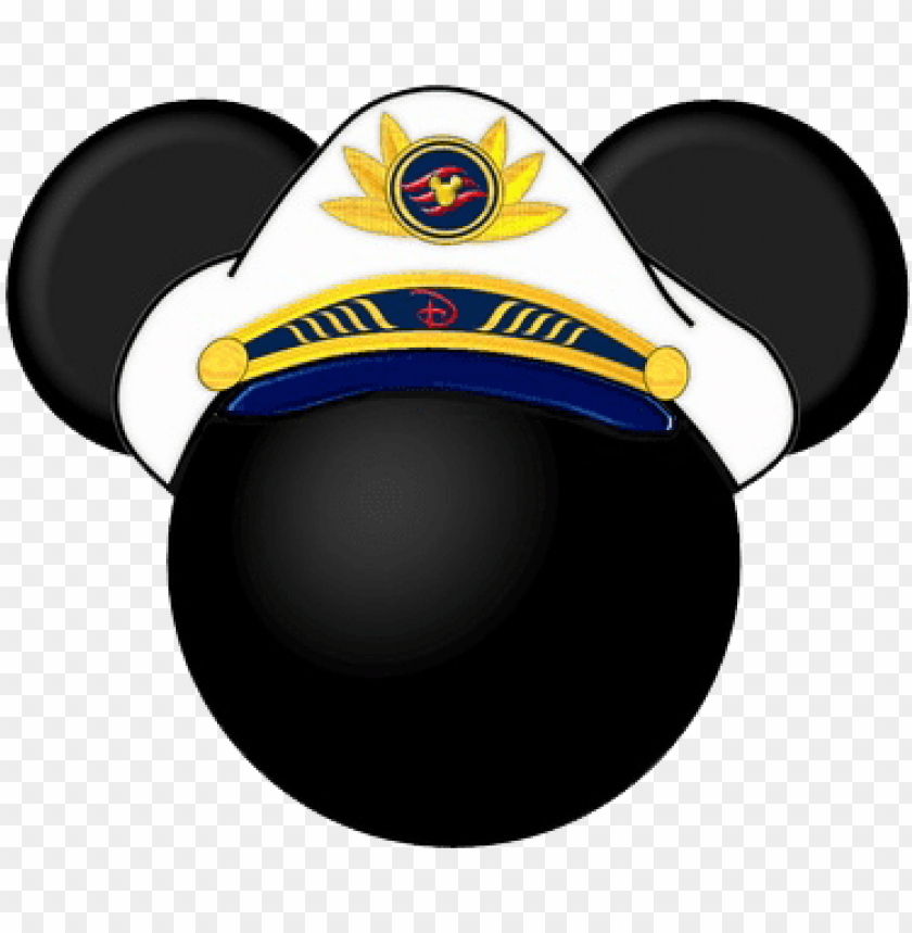 free PNG captain mickey mouse head clipart - captain mickey mouse head PNG image with transparent background PNG images transparent
