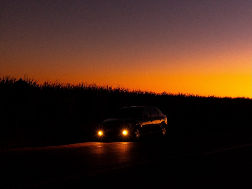 free PNG car, lights, light, night background PNG images transparent