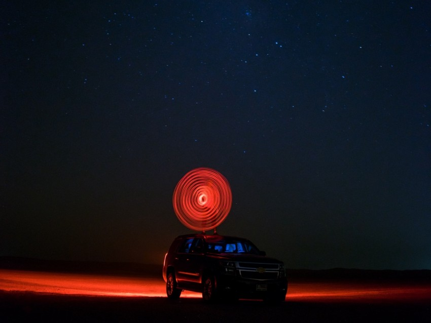 free PNG car, starry sky, night, light, circle background PNG images transparent