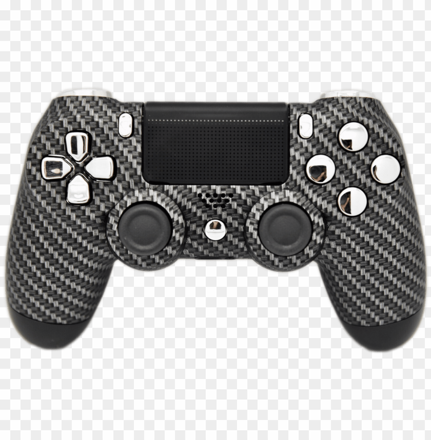 free PNG carbon fiber & silver chrome ps4 controller - ps4 controller red and gold PNG image with transparent background PNG images transparent