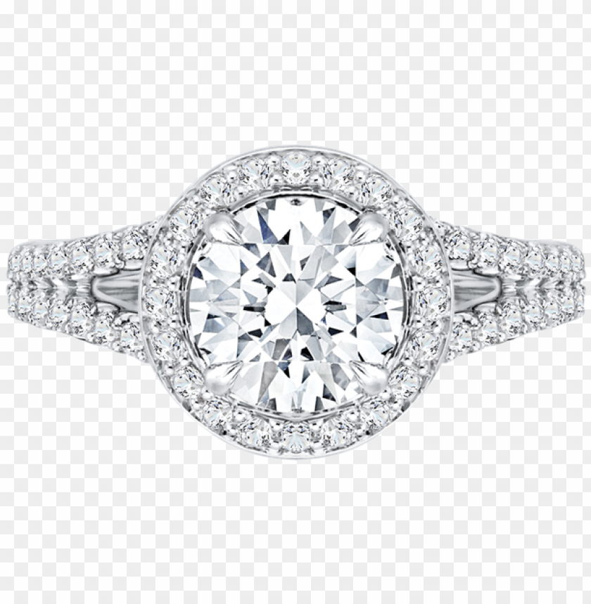 free PNG carizza 18k white gold carizza semi mount engagement - double band halo engagement ri PNG image with transparent background PNG images transparent