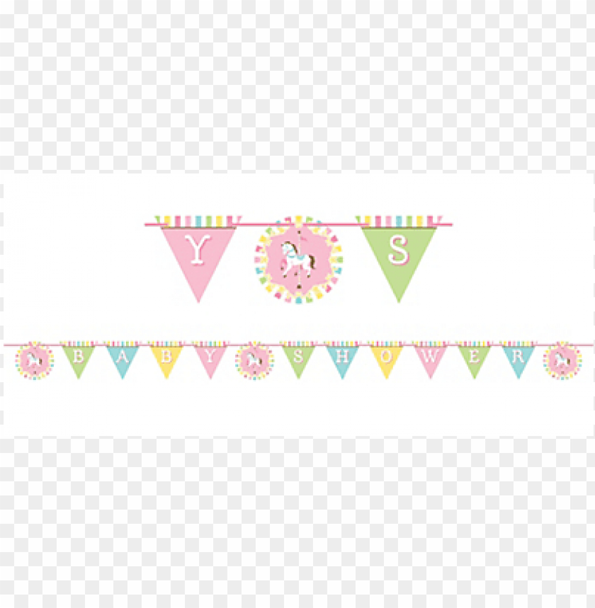 Carousel Baby Shower Ribbon Banner Png Image With Transparent Background Toppng