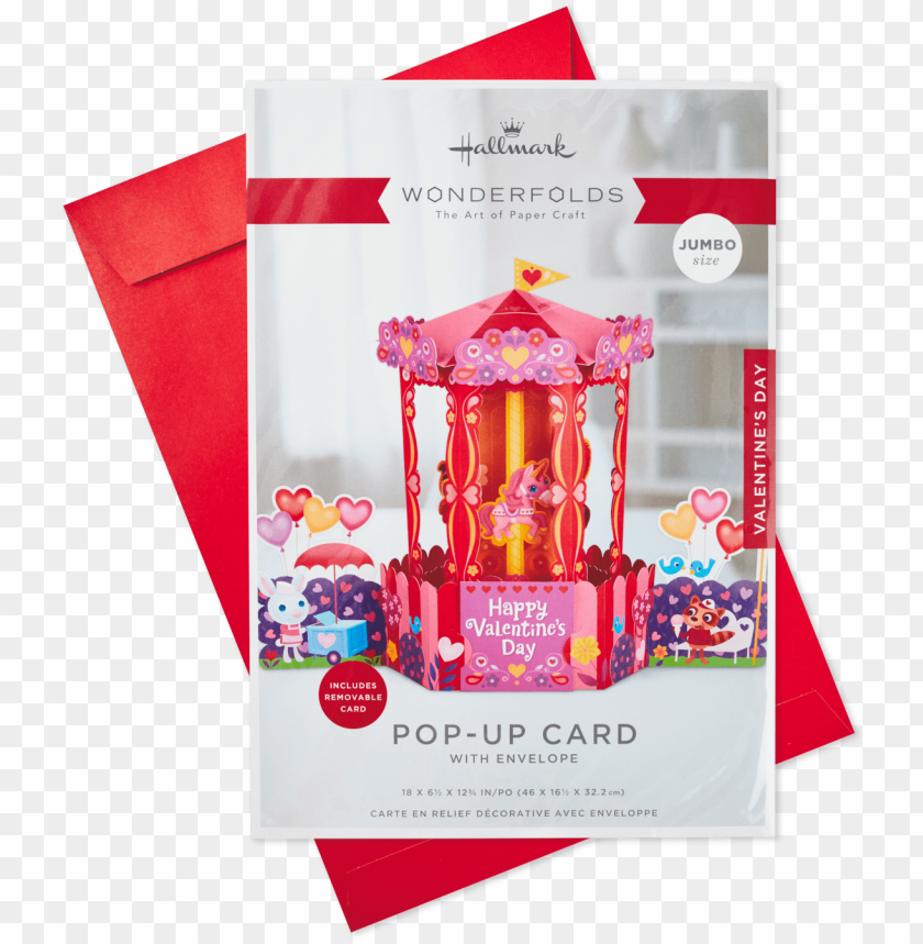 free PNG carousel jumbo pop up valentine's day card, - greeting card PNG image with transparent background PNG images transparent