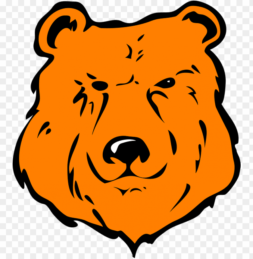 free PNG cartoon bear head - cartoon grizzly bear face PNG image with transparent background PNG images transparent
