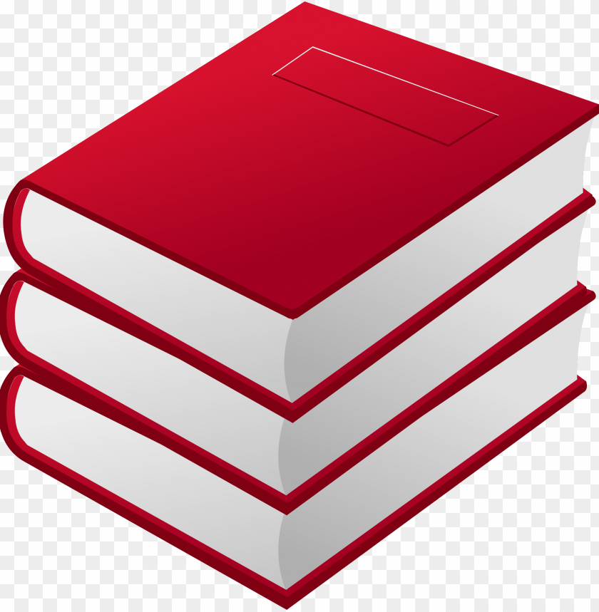free PNG cartoon books png - red books clipart PNG image with transparent background PNG images transparent