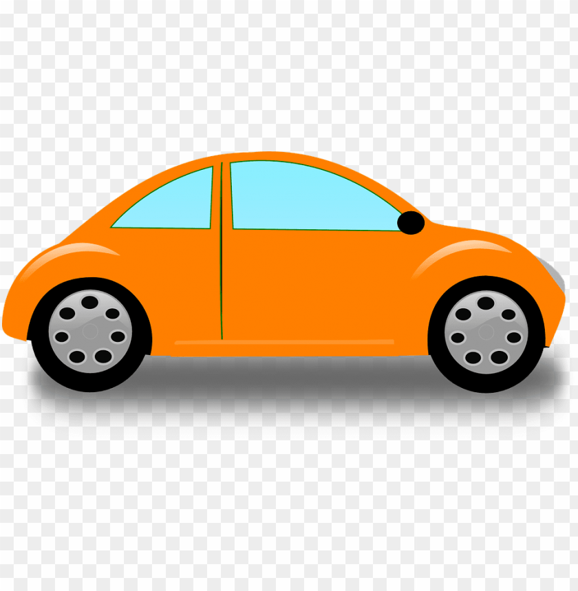 Cartoon Cars Clip Art Orange Car Png Image With Transparent Background Toppng