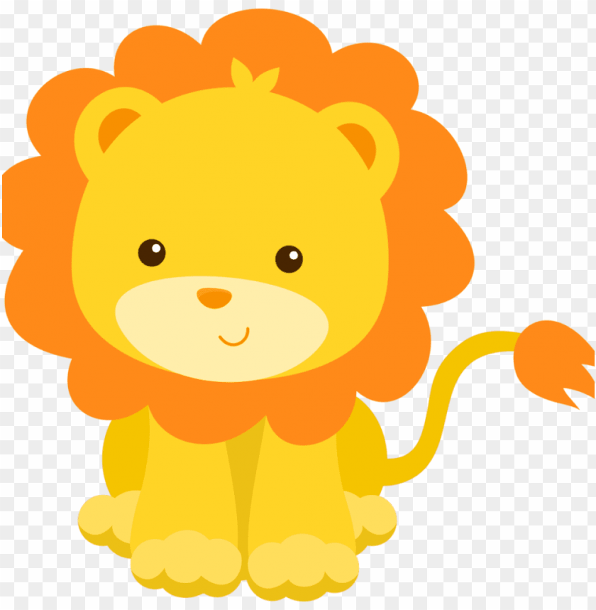 Cartoon Lion Clipart Lion Clipart Cute Borders Vectors Cute Lion Baby Shower Png Image With Transparent Background Toppng