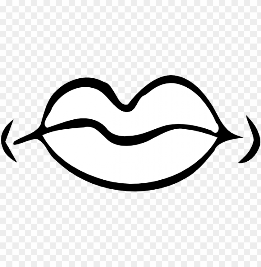 Download Cartoon Lips Black Clipart Png Photo Toppng
