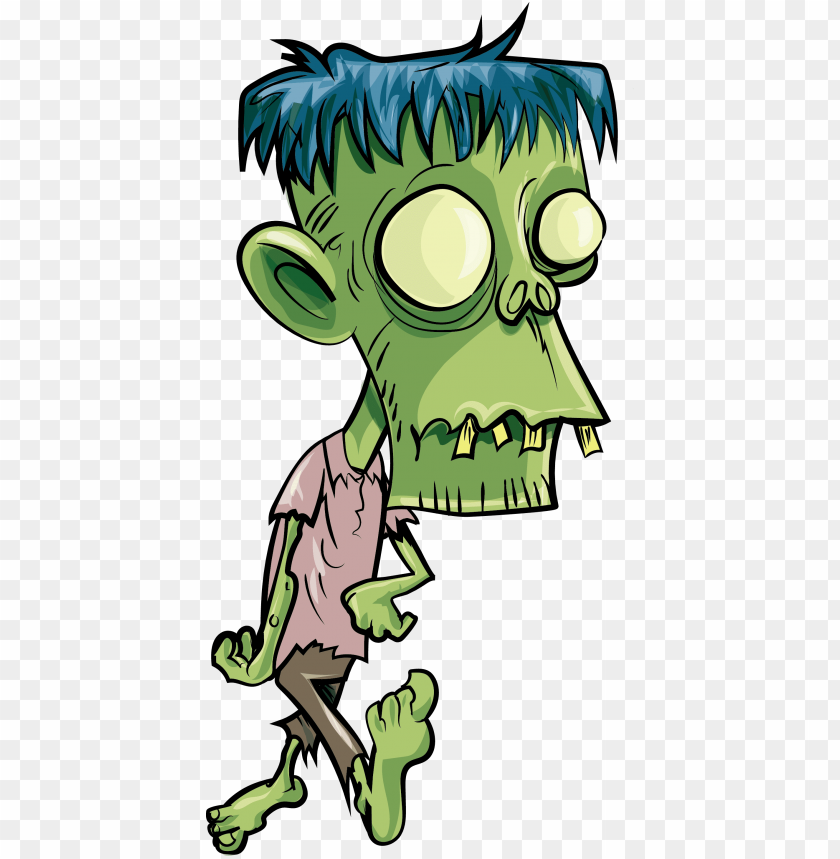 Cartoon Zombie Transparent Background Png Zombie Kartun Png Image With Transparent Background Toppng