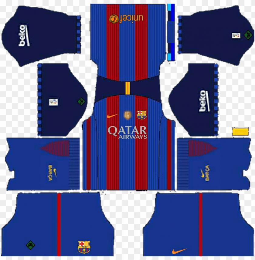 free PNG casa - uniforme do barcelona dream league soccer 2017 PNG image with transparent background PNG images transparent