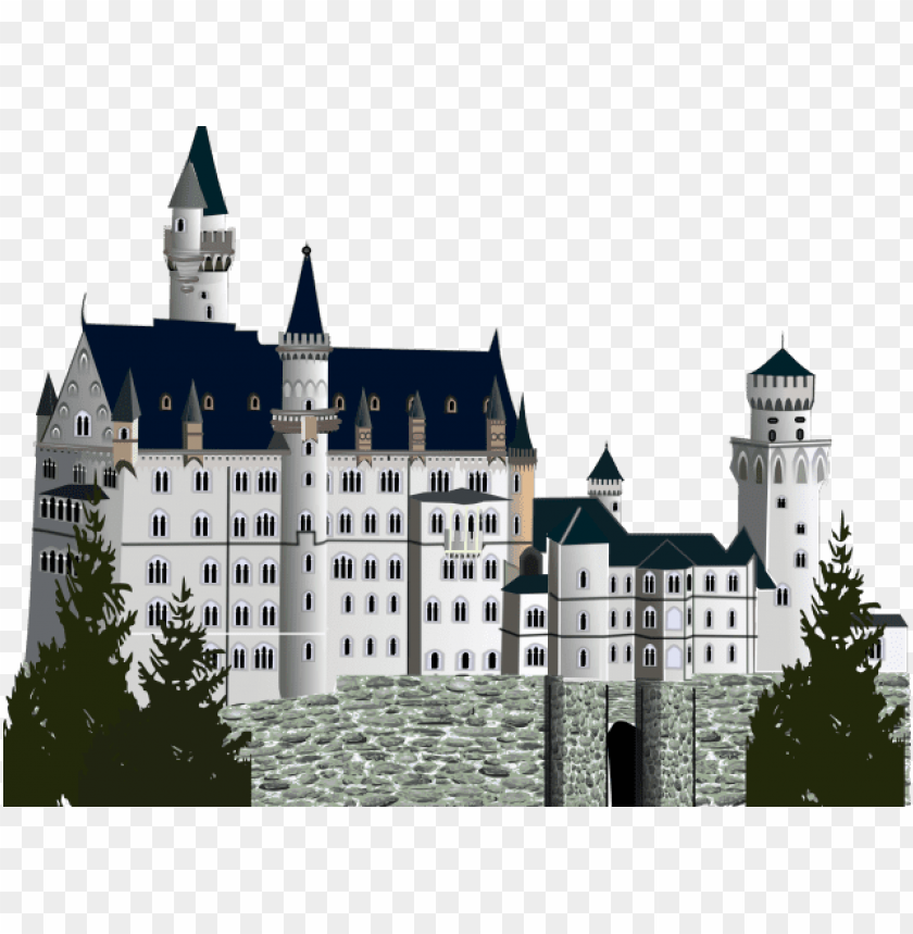 free PNG castle clipart germany cute borders vectors animated - neuschwanstein castle PNG image with transparent background PNG images transparent