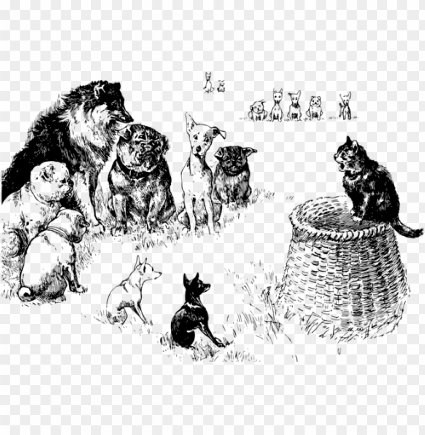 Cat Cartoon Dog Black And White Computer Icons Holding Court Png