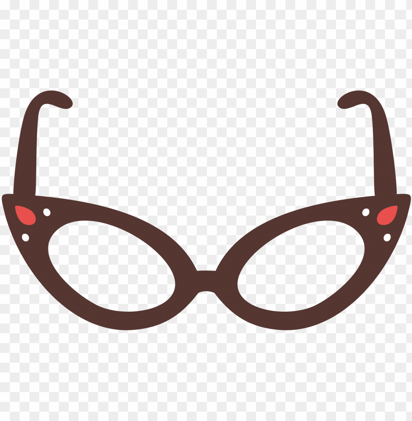 free PNG cat eye glasses clip free - cat glasses clipart PNG image with transparent background PNG images transparent