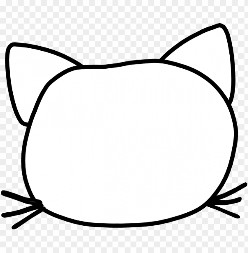 free PNG cat head outline clip art at clker com vector clip - clip art PNG image with transparent background PNG images transparent