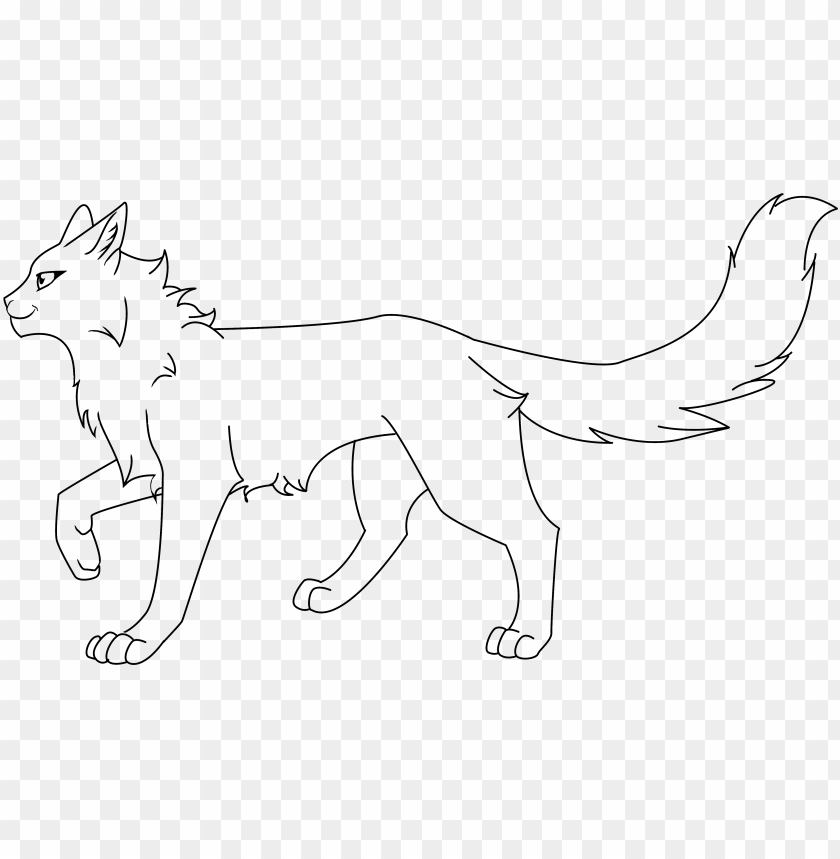 free PNG cat lineart favourites by cassyuiu on deviantart - warrior cat lineart base PNG image with transparent background PNG images transparent
