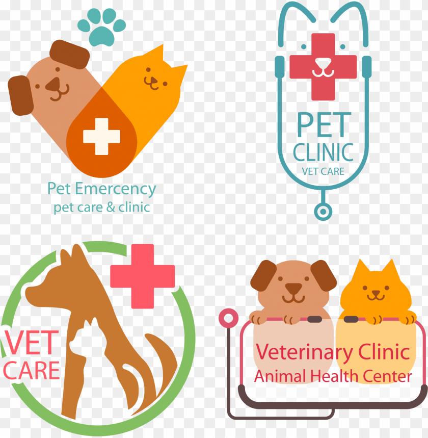 Female vet and many pets stock vector. Illustration of outside - 89443206