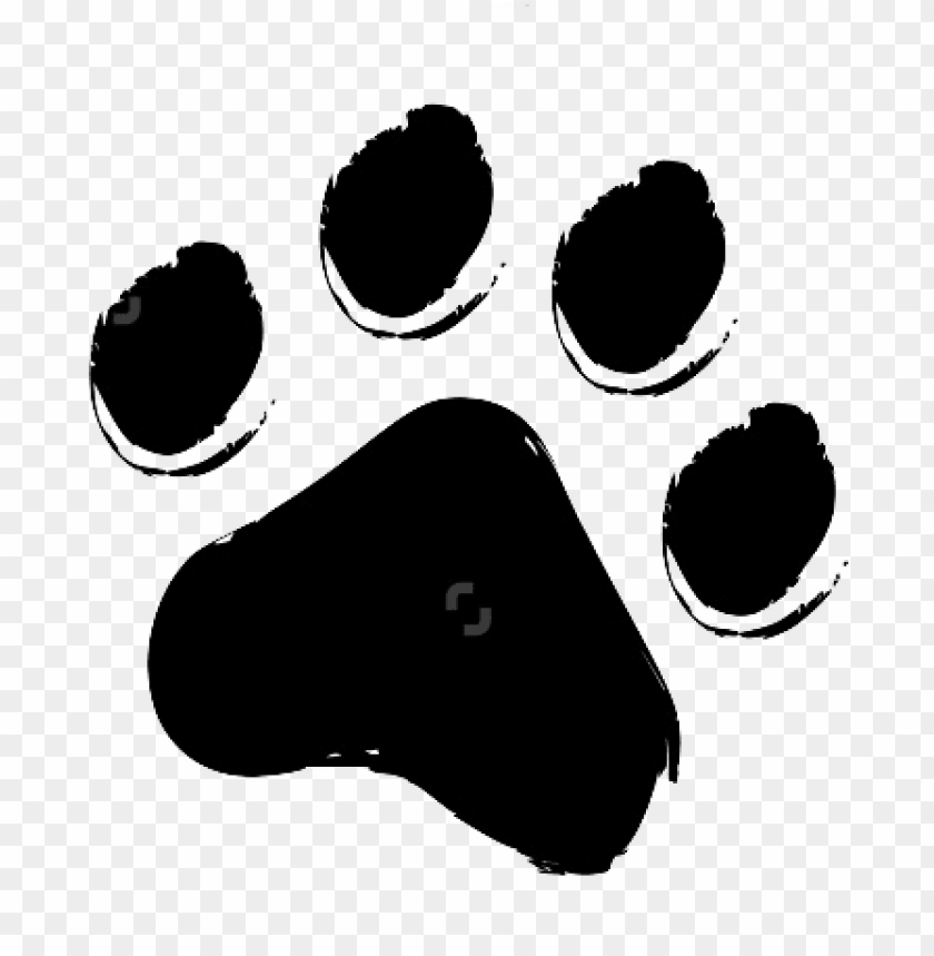 Cat Paw Print Drawing Cat Paw Print Paw Patrol Chase Vinyl Png Image With Transparent Background Toppng