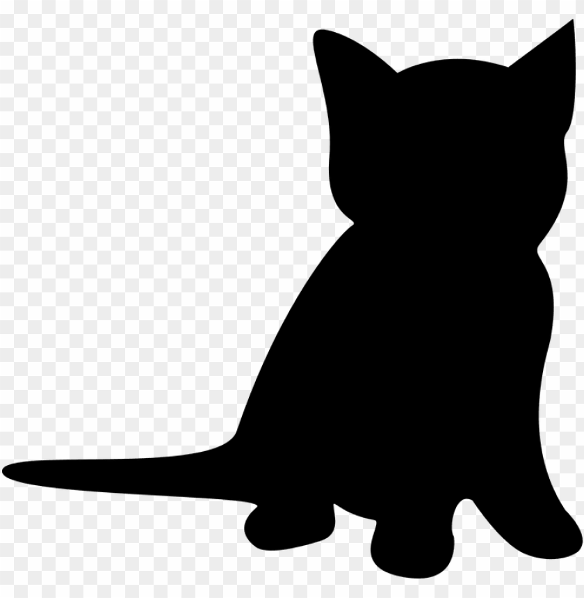 free PNG cat silhouette kitten - kitten silhouette clip art PNG image with transparent background PNG images transparent