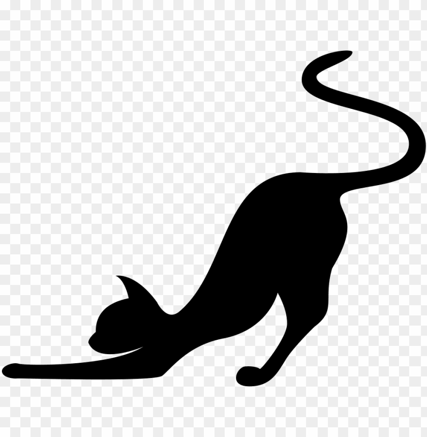 free PNG cat stretching silhouette svg png icon free download - cat stretching silhouette PNG image with transparent background PNG images transparent
