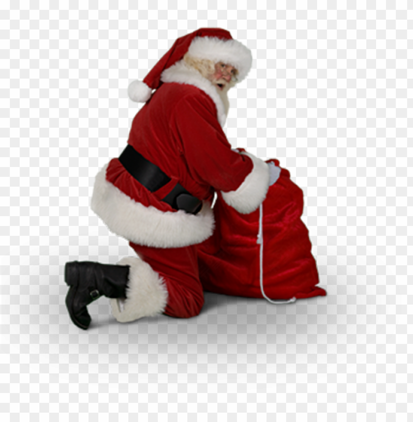 free PNG catch santa claus in my house for christmas messages - kneeling santa claus PNG image with transparent background PNG images transparent