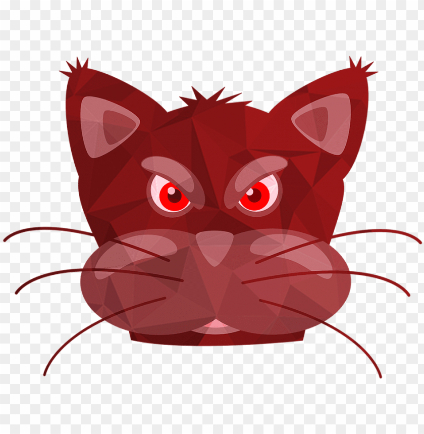 free PNG cats,red cat,pink cat,cat miror poly,poly,triangle PNG image with transparent background PNG images transparent