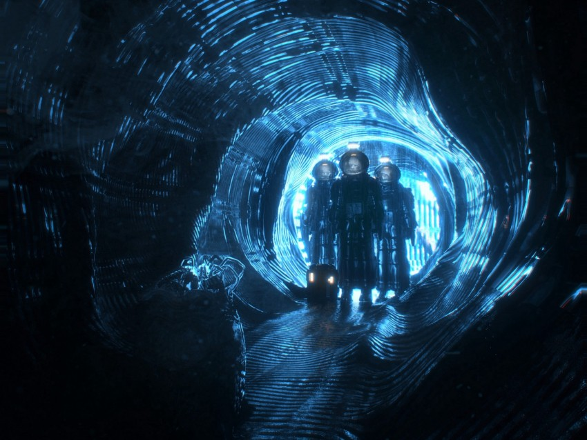Cave Dark Aliens Entrance Light Blue Background Toppng